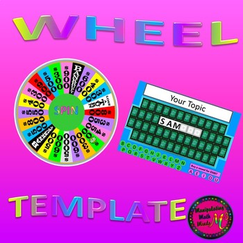 Powerpoint spin the wheel vocabulary game template by for Wheel of fortune game template for powerpoint
