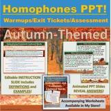 PowerPoint: Where, Wear, We're, Were Autumn-Themed Interac