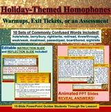 PowerPoint: Winter Holiday Interactive 10-Set Homophones Practice