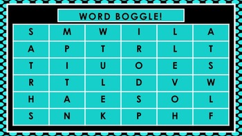 PowerPoint Word Boggle (36 6 x 6 Boards)