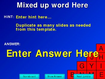 PowerPoint Word Jumble Game