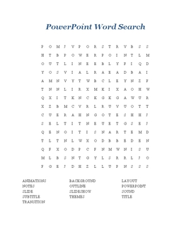 PowerPoint Word Search