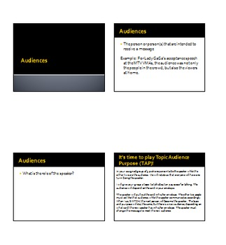 PowerPoint and Activities for Audience Members during Speeches