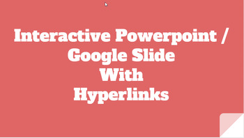 PowerPoint and Google Slides Template with Navigation and Hyperlinks