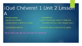 PowerPoint and Notes Guide aligned with ¡Qué Chévere! 1 Un