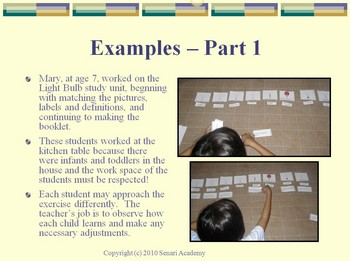 PowerPoint describing the Use of a Study Unit