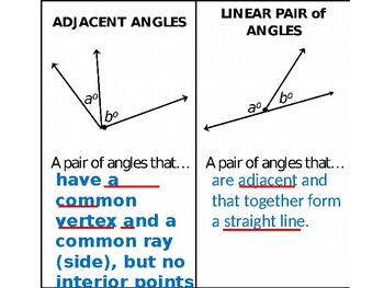 PowerPoint for Angle Pairs (more than just) Flashcards