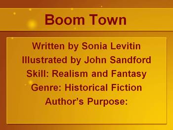 PowerPoint for Boom Town by Sonia Levitin