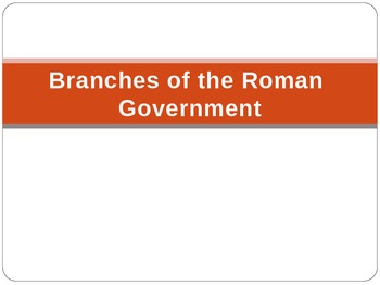 PowerPoint for Branches of the Ancient Roman Government