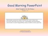 PowerPoint for Daily Classroom Organization FREE Birthdays Slide