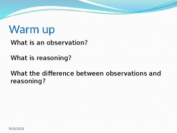 PowerPoint for First Full Day of Science