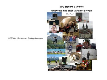 PowerPoint for Lesson 15 (Savings Accounts) - My Best Life