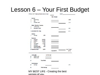 PowerPoint for Lesson 06 (Building a Budget) - My Best Life