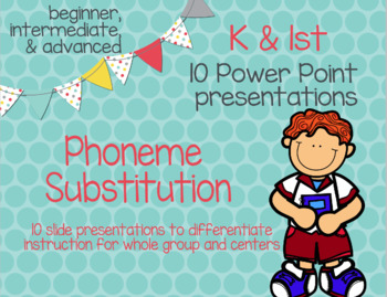 PowerPoint for Phoneme Substitution (RTI, ESL, K, and 1st)