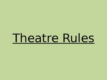 PowerPoint for Rules and Procedures