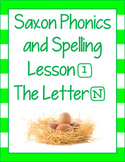 PowerPoint for Saxon Phonics and Spelling 1st First Grade Lesson 1 FREEBIE