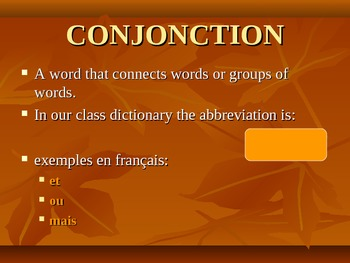 PowerPoint for Teaching Students to Use a French/English Dictionary