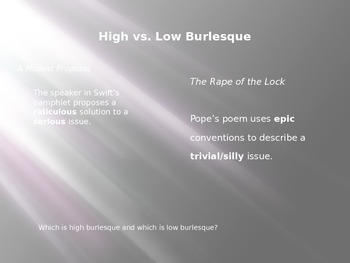 """PowerPoint for """"The Rape of the Lock"""""""
