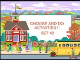 PowerPoint for Writing Choose and Do 2 Substitute Plan