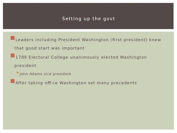 PowerPoint  from Washington to War of 1812