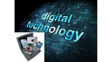 PowerPoint introducing digital technology with video idea