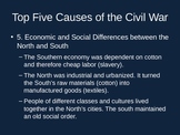 PowerPoint lecture: US Civil War Causes and Early Battles