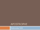 PowerPoint lesson on Apostrophes with notes