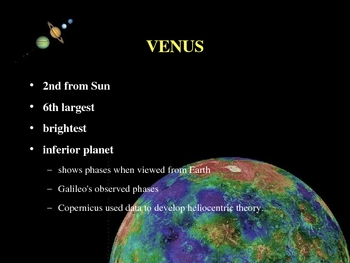 PowerPoint notes for the basics of our Solar System
