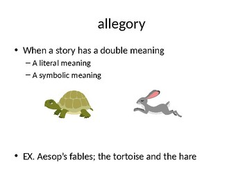 PowerPoint of a variety of Literary Terms