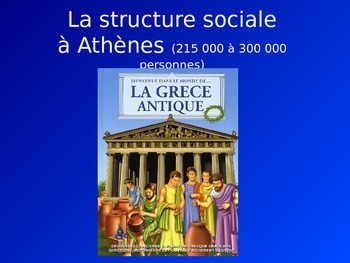 PowerPoint on Ancient Greece social structure in FRENCH