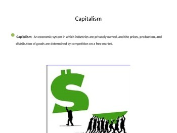 PowerPoint on Captains of Industry in 1900s,and economics of that time period