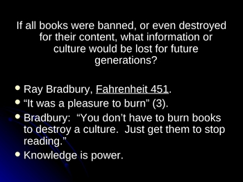 PowerPoint on Censorship and Banned Books