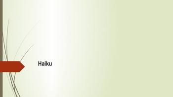 PowerPoint on Haiku Poems Grade 5/6 Poetry Language Arts