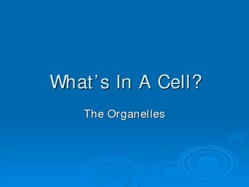 PowerPoint on Organelles