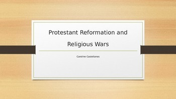 PowerPoint on Protestant Reformation for AP Euro or AP World