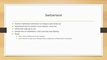 PowerPoint on Religious Wars for AP Euro