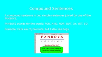 PowerPoint on Sentence Variety Simple Compound and Complex Sentences