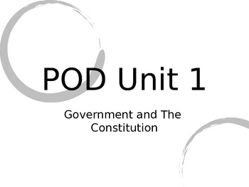 PowerPoint on US Government and the Constitution