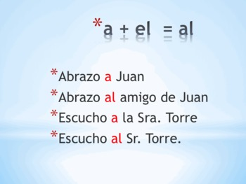 PowerPoint on the Personal A in Spanish