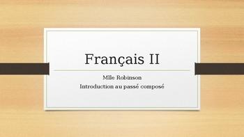 PowerPoint presentation: passé composé conjugations