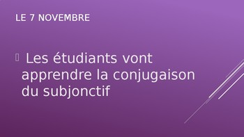 PowerPoint: subjunctive