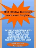 PowerPoint template for effective math lessons