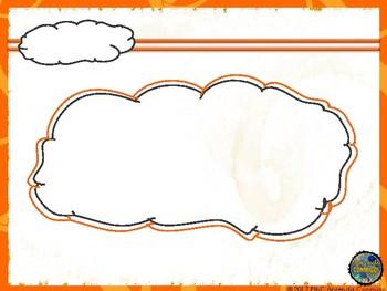 PowerPoint template orange 4 different looks
