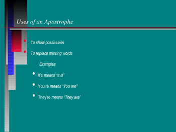 PowerPoint to Introduce and Discuss the Apostrophe