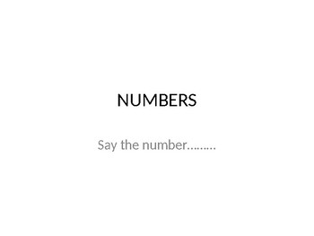 PowerPoint with numbers 0-50 recognition reading numbers COMMON CORE and TEKS