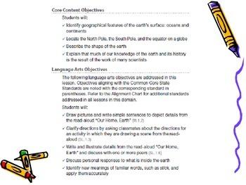 PowerPoints for Engage NY Grade 1 ELA Domain 7 The History of Earth