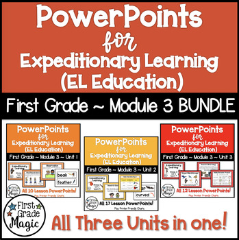 PowerPoints for Expeditionary Learning First Grade Module 3 BUNDLE