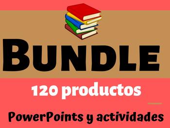 Bundle (120 productos): PowerPoints y diversas actividades