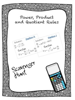 Power,Product, and Quotient Rule Scavenger Hunt