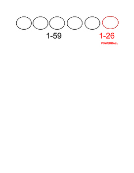 Powerball Math Worksheet